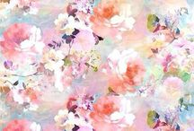 Tła / background / pattern / graphics / image / picture / colors / black and white / flowers