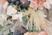 Dusty Blue, Dusty Cedar, Marsala and Dusty Rose Wedding Color Inspirations