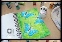 tavaszi dekorációk / Papírból vagy különböző anyagokból készült dekorációk!