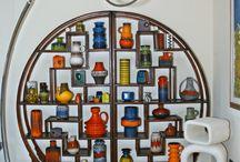 Art deco furniture, animal ceramics - art deco bútor, állatszobrok