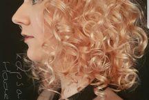 Peach Haircolor / Prachtige Peach Haircolor gekleurd met Be one multicolor en Coloroil van Personal Touch..