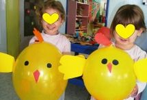 Easter craft idea / This page has a lot of free easter bunny,easter chicken,easter basket craft idea for kids,parents and preschool teachers.