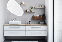 Asymmetric bathrooms / Break away from convention and clean lines with asymmetric bathroom design.