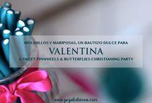 Molinillos y mariposas para Valentina