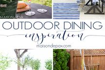 Outdoor Dining / Whether you are gathering with friends and family or just having dinner outside because of a gorgeous day, outdoor dining should always be simple and easy. Here are some ideas on just how to do that.