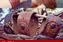 leather belt bracelets