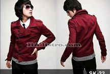 Jaket Merah Trendi Korean Style
