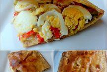 Empanada de Pimientos, Cebolla y Huevos