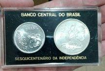 Numismática / Notas e moedas brasileiras.