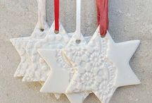 DIY Christmas ornaments in clay / Christmas ornaments for the crafter, clay artist and kiddies