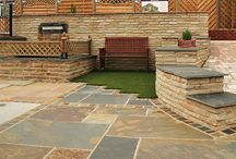 AWBS Building & Landscaping Oxford Branch / Garden landscaping displays that visitors to the AWBS Building & Landscaping branch in Oxford can view for garden design ideas and inspiration.