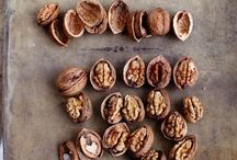 Hazelnuts, walnuts, chestnuts, almonds, drive fruits