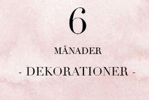 6 MÅN - Dekorationer