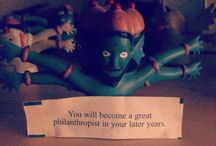 GOOD FORTUNE! / Even if it is a little slip of paper stuffed inside a cookie that says it's Chinese but is American.