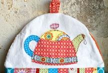 Tea Cozies / Fun knit and sewn tea cozies