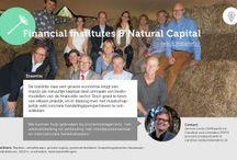 Natuurlijk Kapitaal / De transitie naar een groene economie krijgt een impuls als natuurlijk kapitaal deel uitmaakt van beslismodellen van de financiële sector. Door goed te leren van elkaar praktijk en in dialoog met het maatschappelijk veld concrete handelsperspectieven te ontwikkelen.