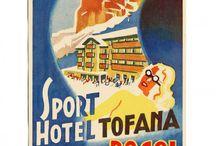 vintege poster Dolomites