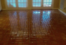 Saucy Saltillo / Saltillo floors give a special warmth to a room.  But they do need maintenance every few years to stay beautiful.  Visit us at cleantileandmore.com and ask for your free demo!