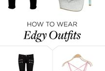 Edgy Outfits / Give edgy a try -- here's how.