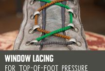 Shoe laces knots