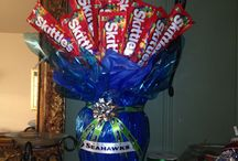 I made it! / Seahawks skittle bouquet