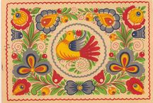 Lidový ornament / Malování, výšivka, keramika.