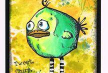 Angery Birds / Tim Holtz