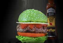 Halloween Recipes / Heat up the Halloween season with a creepy feast! It's all about our Carolina Reaper sauce from HOT chocolate cupcakes to avocado burger laced with Reaper sauce for a ghoulish green twist on a classic!