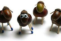 terménybábok / bábok és figurák őszi terményekből
