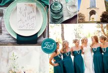PANTONE Biscay Bay Wedding Ideas / Wedding details featuring the PANTONE top wedding color Biscay Bay