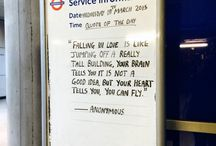 message from tube in London