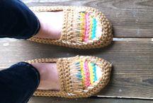 örgü ayakkabılar