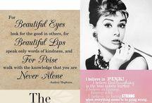 Audrey Hepburn / Quotes en fashion inspiratie