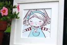 Nursery Art / Beautiful framed prints perfect for any nursery wall