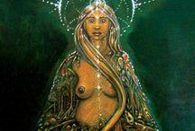 Ancient Mythology & Folklore / Goddesses-Gods-Spirits-symbols & myths through art !
