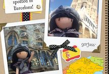 Gorjuss Dolls on Tour / Our lovely Gorjuss dolls are making their way around the world! Make sure you tag your photos - We want to see what adventures they are having!  Shop at: http://www.santoro-london.com/shop/junior/dolls-jn/