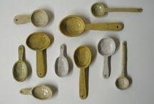 Pottery spoons\measure cups / by Rose Sarich