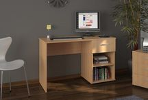 Wooden Desk Furniture Office Computer Laptop Pc Study Work Storage Unit Beech