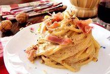 spaghetti speck e gorgonzola
