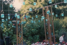Kaars verlichting tuin