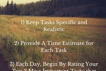 Personal Organising / Strategies to effective planning and use of time and resources