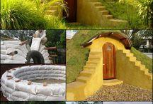 Lehm und Sandbauten