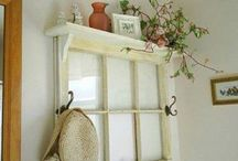 Old window ideas / by Nancy Bradford