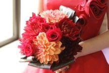 赤いドレス ブーケ