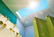 artificial sunlight / sunlight of varying  wavelength & intensity  bulbs indoors