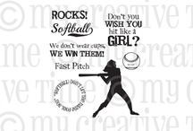 Fastpitch Rocks / Inspiration for this stamp set!