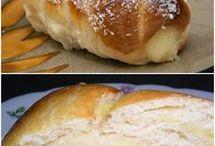 Pão com recheio de creme
