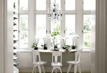 White Rooms / Beautiful rooms with the predominate color of white, white furniture, white walls, etc.