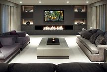 TV fireplace unit