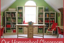 Homeschool Organization / Organizing your homeschool ~ the room, the papers, the subjects, and everything else in between!